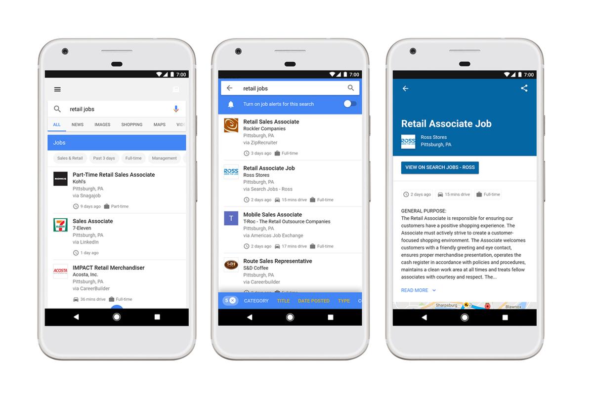 Google for Jobs on mobile