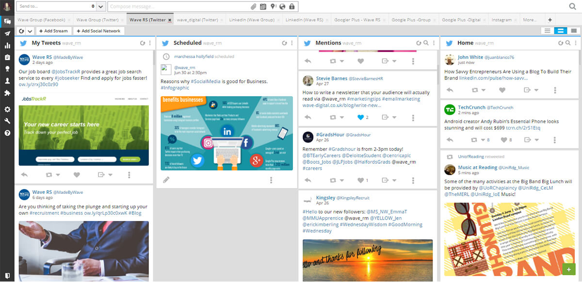 hootsuite dashboard - 5 Digital Marketing Tools for Small Business Growth in 2020