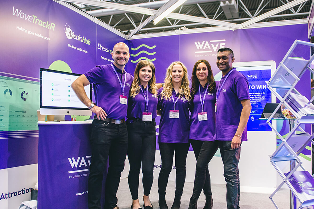 The Wave Team at the Recruitment Expo in Birmingham
